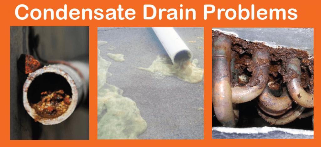 Condensate drain recommendations line flush pan