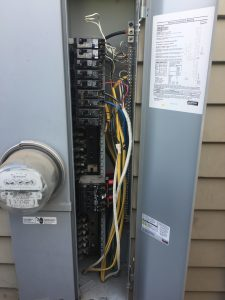 Is there a problem in your circuit box.The yellow and white wire inside the panel are called Romex. Romex wires are for inside the walls.They should not be inside the circuit panel box.